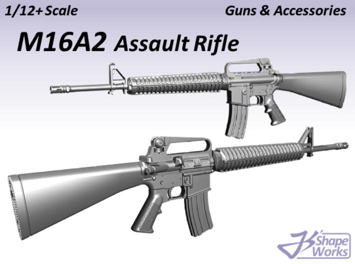1/12+ M16A2 Assault Rifle 3d printed