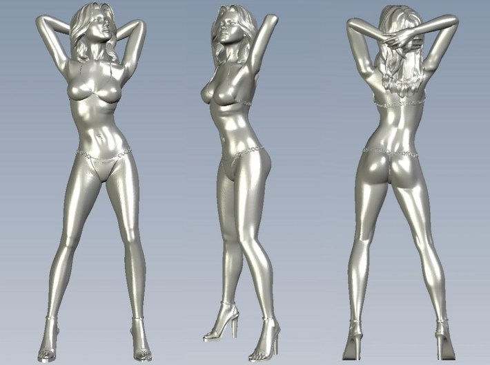 1/15 scale bikini beach girl posing figure A 3d printed