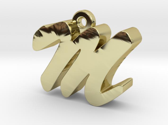 M - Pendant - 3 mm thk. 3d printed