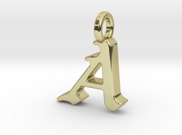 A - Pendant - 2mm thk. 3d printed