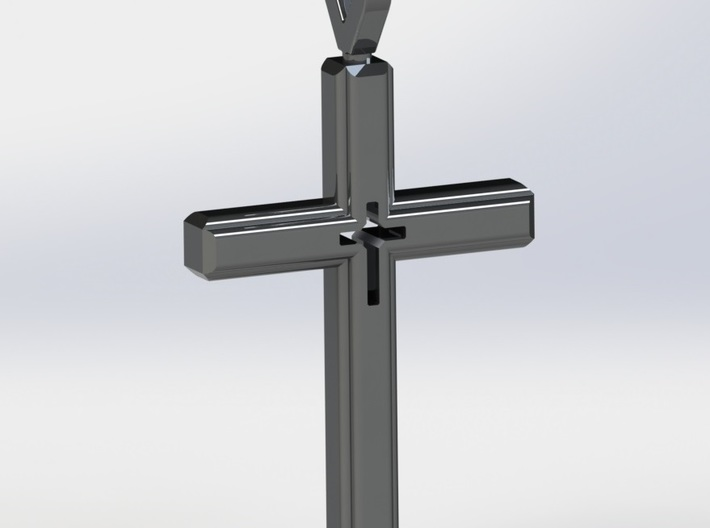 Cross Pendant 3d printed Rendered Image of Cross Pendant