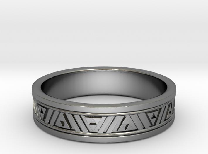 "Triforce Wedding Ring - .72"" finger size 3d printed"