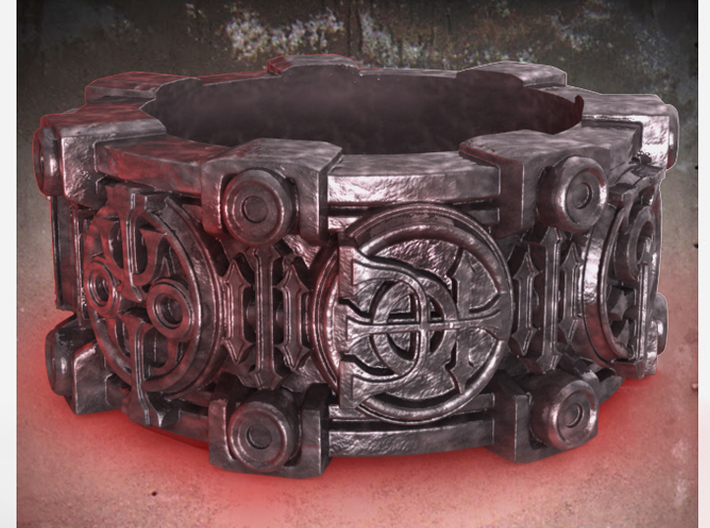 Alchemical Sigil Ring (US Size 6) 3d printed