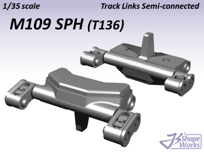 1/35 M109 SPH Track Links semi-connected 3d printed