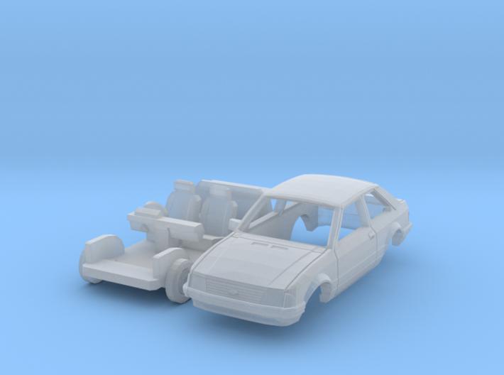 Ford Escort 3-door (British N 1:148) 3d printed