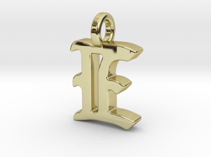E - Pendant - 2mm thk. 3d printed