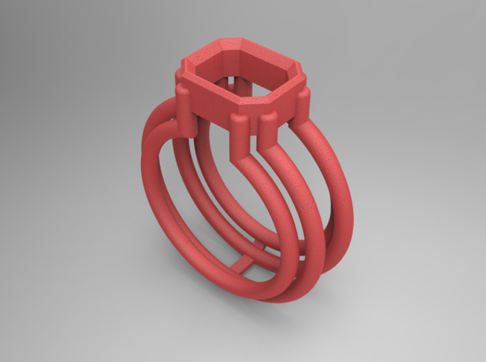 EMPTY RING - SIZE 8 3d printed
