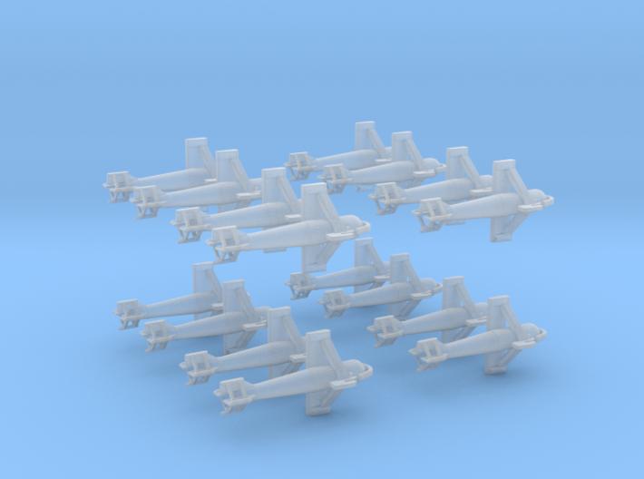 1/350 DKM Paravane Set x16 3d printed