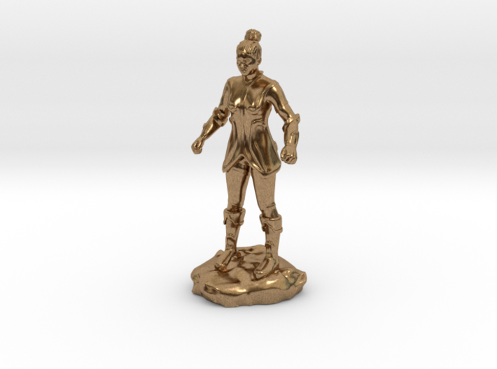 Female Human Fighter with Elven influenced armor. 3d printed