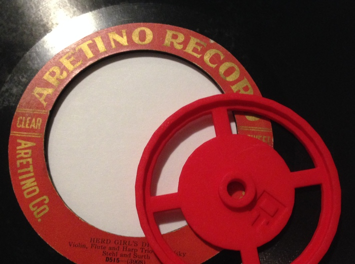 Aretino Record Spindle 3d printed