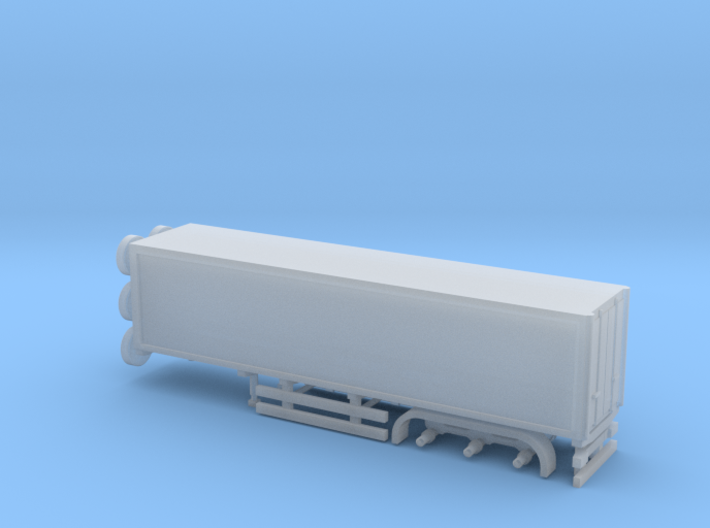 N Gauge Articulated Lorry Box Trailer 3d printed