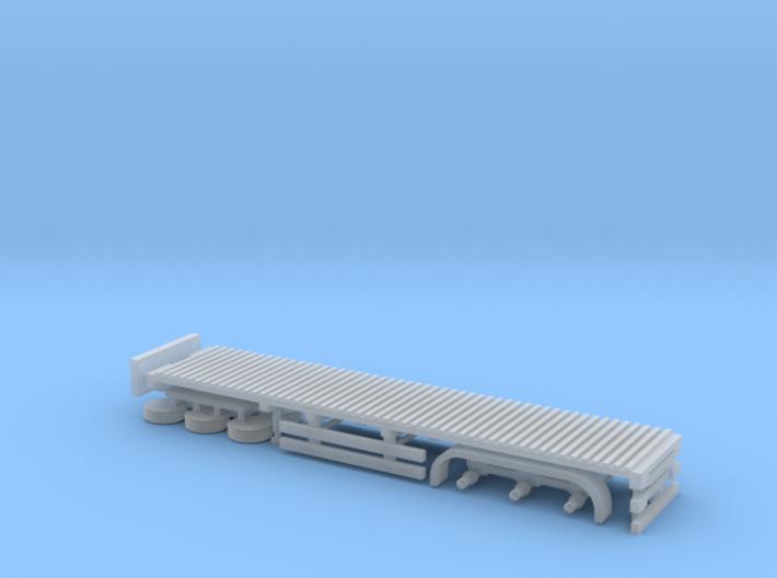 N Gauge Articulated Lorry Flat Trailer 3d printed