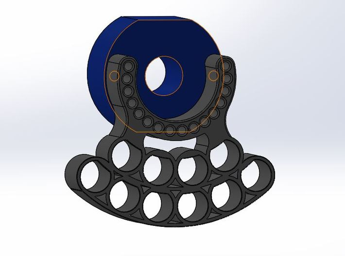OD90-DLUX-Tungsten PINEWOOD support -V4 -DLUX-OD90 3d printed