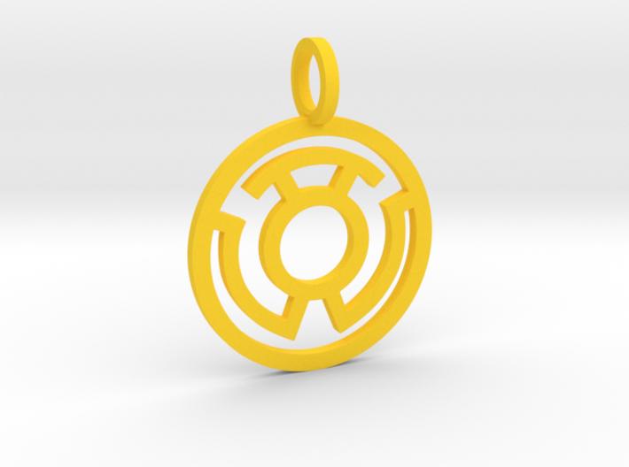 Yellow Lantern 3d printed
