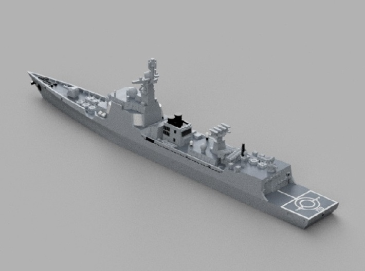 1/1800 CNS Lanzhou 3d printed Computer software render.The actual model is not full color.