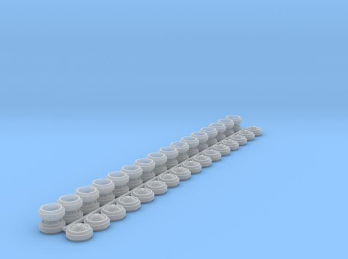 1/64 Alcoa Dually Rims (8 Sets) 3d printed
