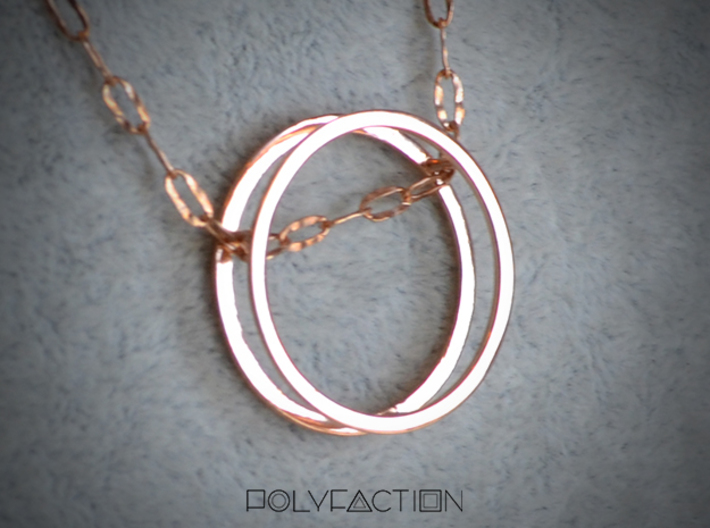 Wire ::: Circle Pendant ::: v.01 3d printed
