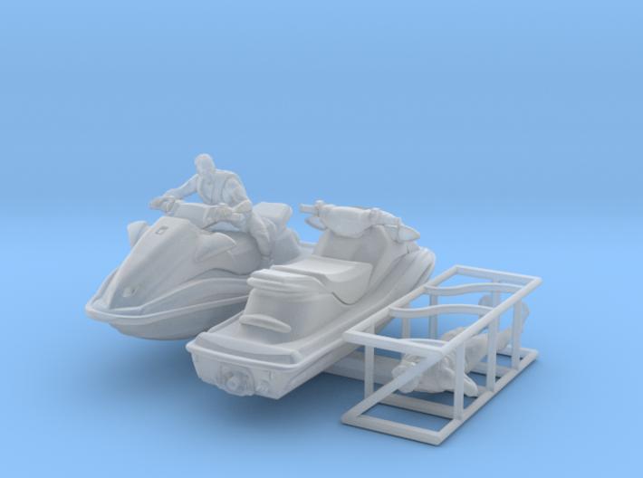 1-87 Generic Jet Ski w Figures Set003 3d printed