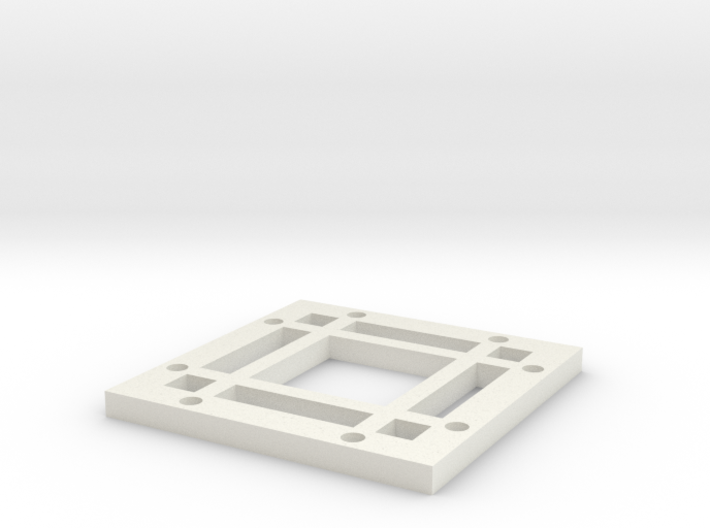 """2x2 Magnetic Base for 1.25"""" grid(4 beams) 3d printed"""