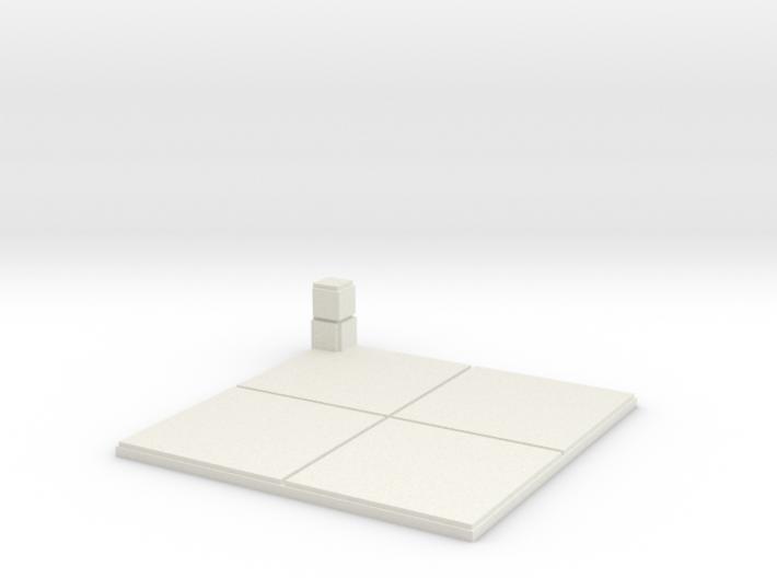 2x2 for 1.25 inch grid:Corner pillar 3d printed
