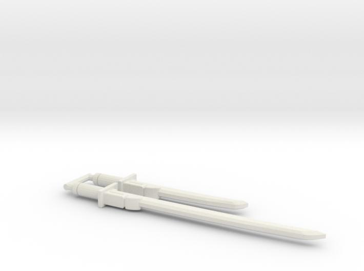 Bludgeon Swords (Katana and Wakizashi) 5mm Grip 3d printed