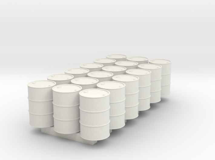 18 N scale oil drums 3d printed