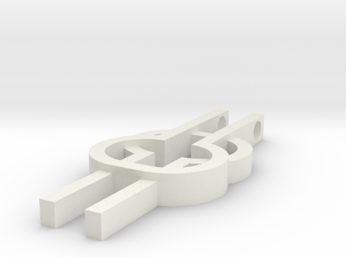 Wisdom Knot Charm 3d printed