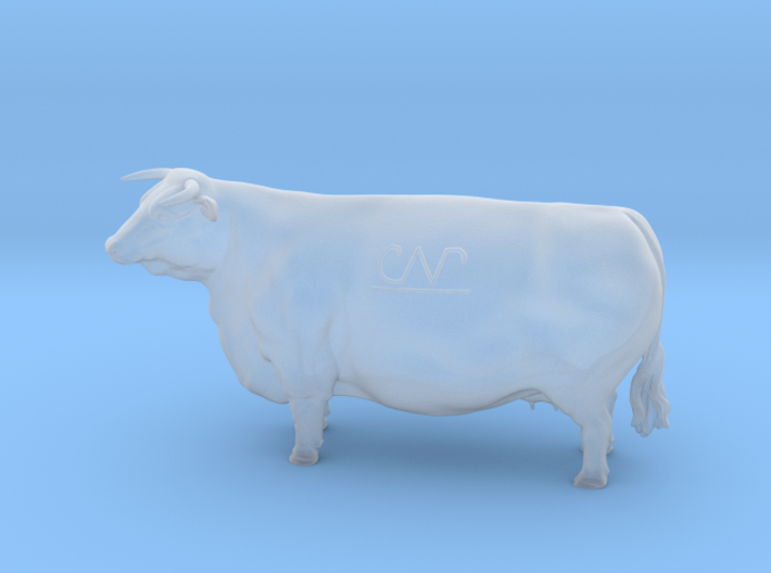1/64 Horned Hereford Cow1 3d printed