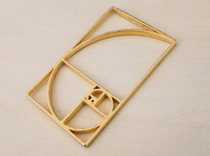 30% OFF for Limited Time Only! -Aureo Linea 01 3d printed Polished Gold Steel