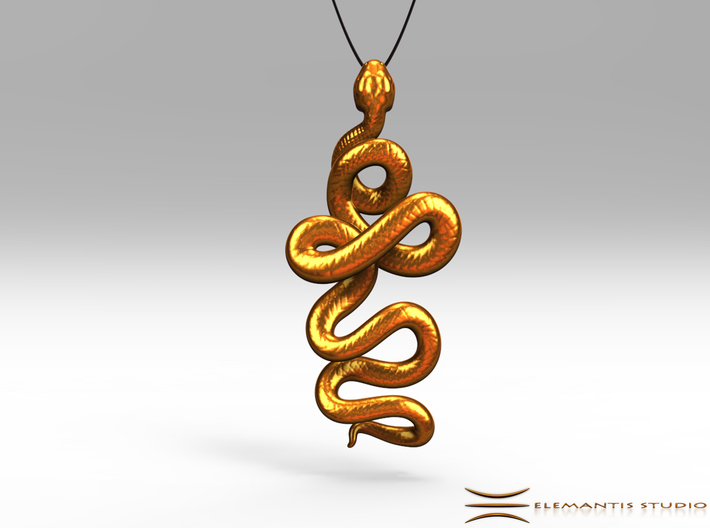 Kundalini serpent pendant 45cm 4xpt57hne by elemantis kundalini serpent pendant 45cm 3d printed pendant cord not included mozeypictures Image collections