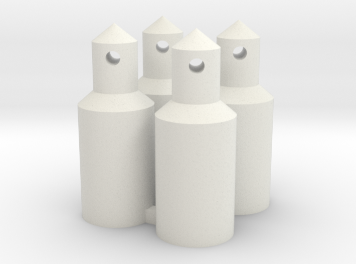 Round Battery/Body Posts (Qty 4) 3d printed