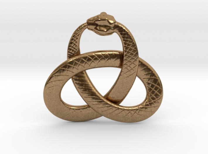 Ouroboros Triquetra Pendant 5.5cm 3d printed