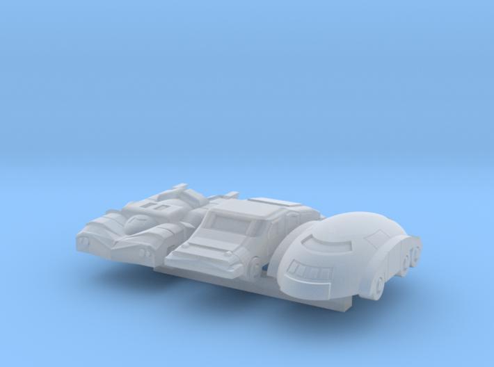 Six Wheeler Cars 3d printed
