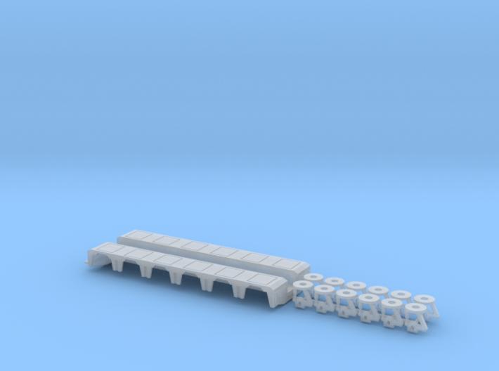 1/87 Pendel-X 6 Axle Rear Module 3d printed