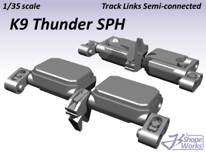 1/35 K9 Thunder SPH Track Links semi-connected 3d printed