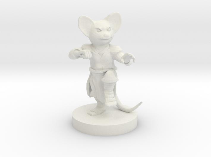 Mousefolk Monk 3d printed