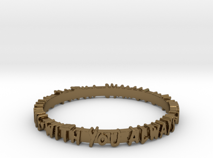 With You Always Ring (Multiple Sizes) 3d printed