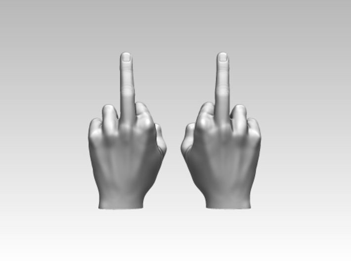 """""""The finger"""" international insult in 1:6 scale 3d printed"""