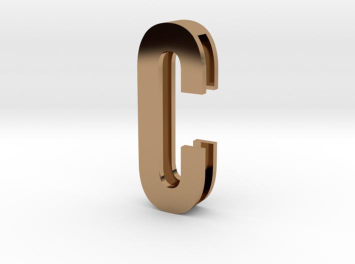 Choker Slide Letters (4cm) - Letter C 3d printed