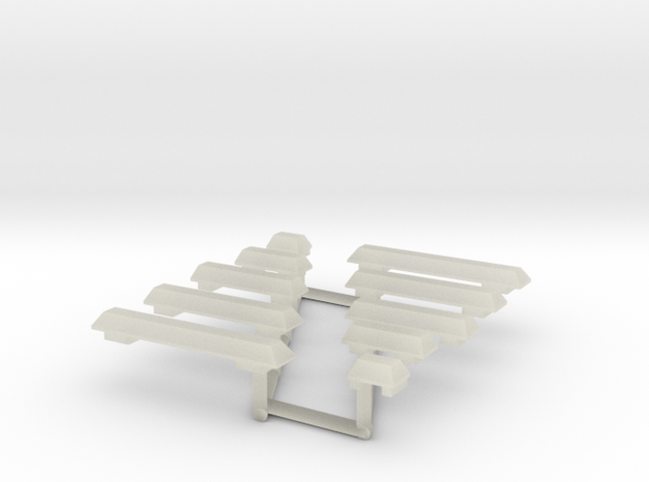 1/64th Wedge Shaped Emergency Light Bar Set 3d printed