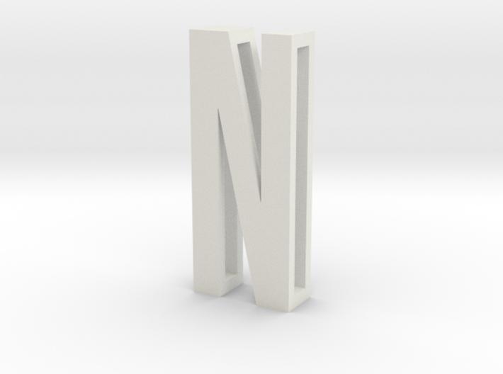 Choker Slide Letters (4cm) - Letter N 3d printed