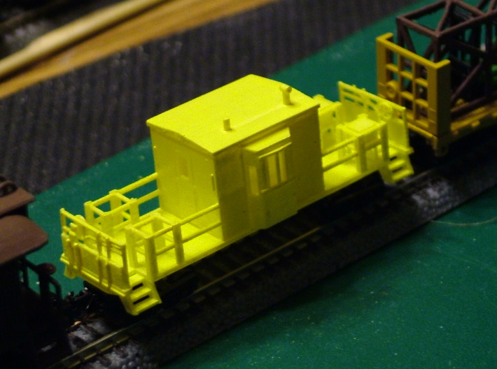 Bay Window Transfer Caboose 3d printed Bay Window Transfer Caboose