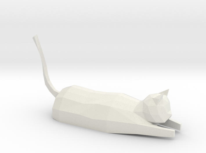 Decorative low-poly cat 3d printed