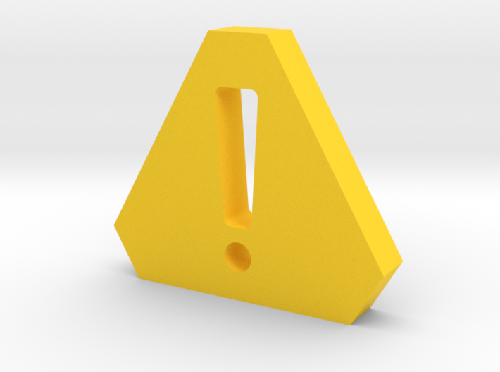 Caution Game Piece 3d printed