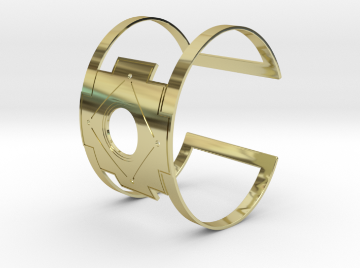 Inca Cross Wide Cuff Bracelet Simple 3d printed