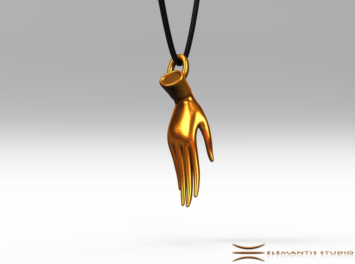 Varada Mudra Pendant/Charm 2.5cm 3d printed Pendant cord not included