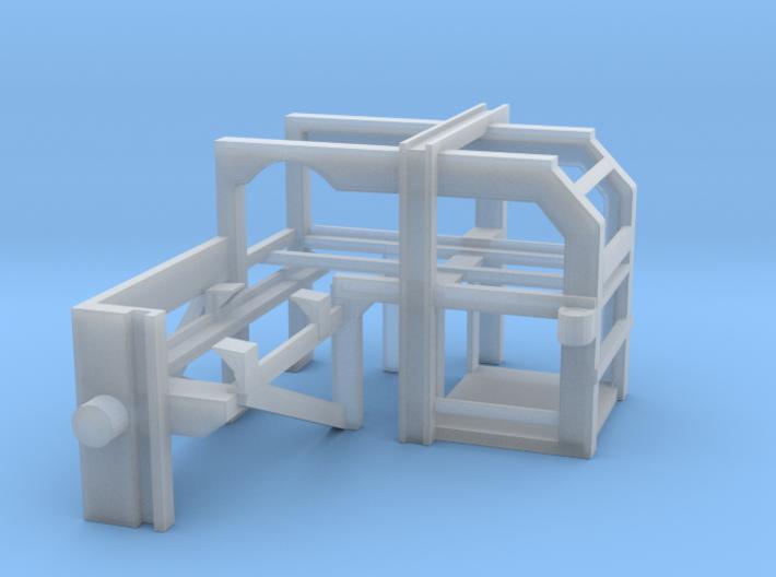 1/160 USN Depth Charge Loader Rack Starboard 3d printed