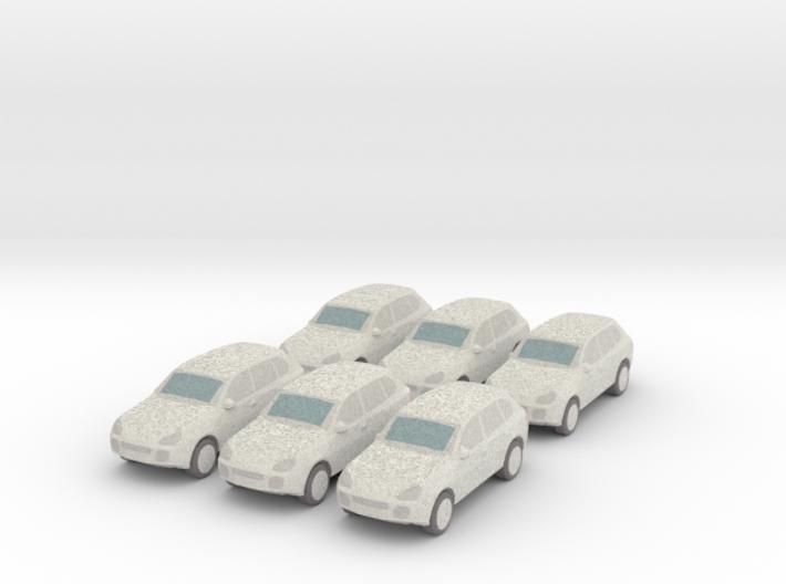 6 Wrapped SUVs (N 1:160) 3d printed