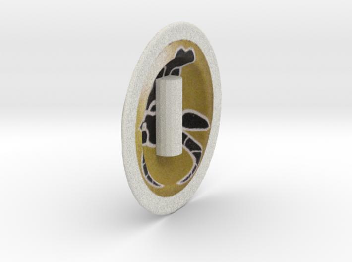 Greek hoplite shield for lego 3d printed