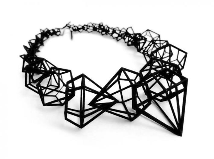 Stereodiamond Necklace 3d printed 2